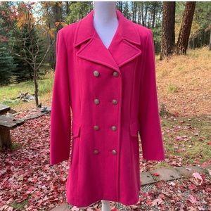 Vintage Marvin Richards Pink Wool Pea Coat XL